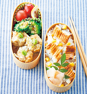 夏野菜とばらずしの、おべんとう。