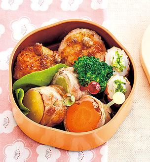 野菜たっぷり、幼稚園児の おべんとう。