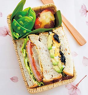 春色サンドイッチの、おべんとう。