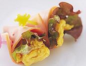 炒り卵のハム巻き