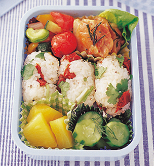 鶏肉と夏野菜のおべんとう