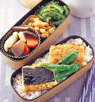 豆腐の蒲焼き風べんとう。